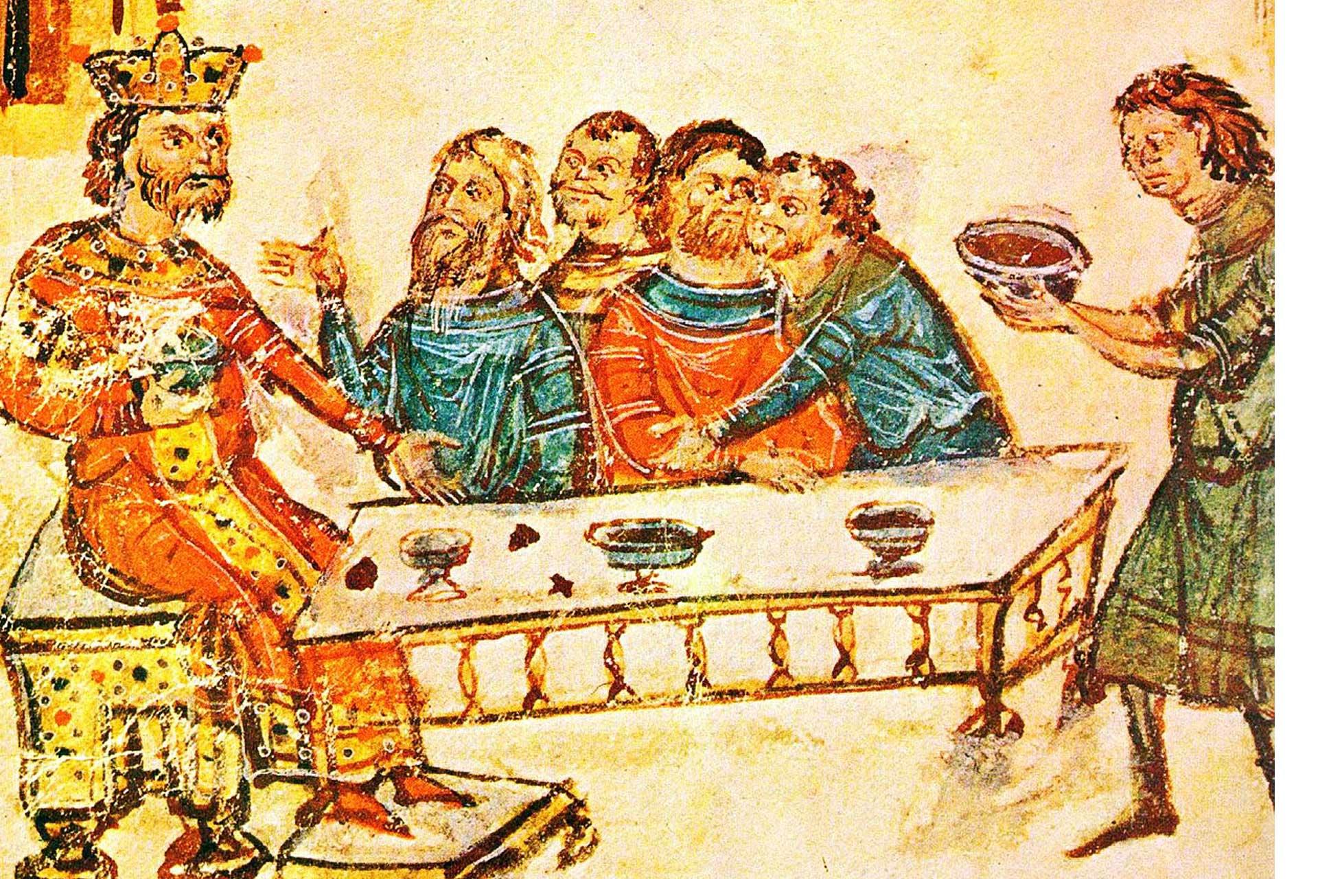 Кухнята на древните българи, хан Крум